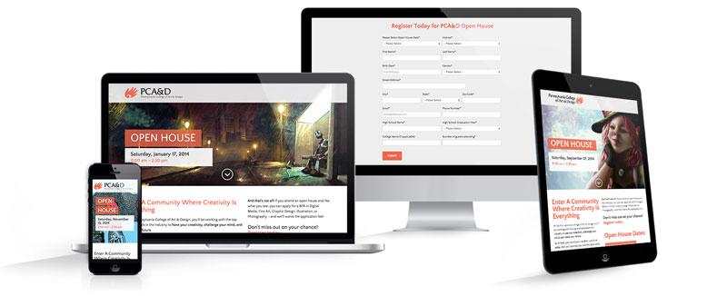 PCA&D Landing Page Design